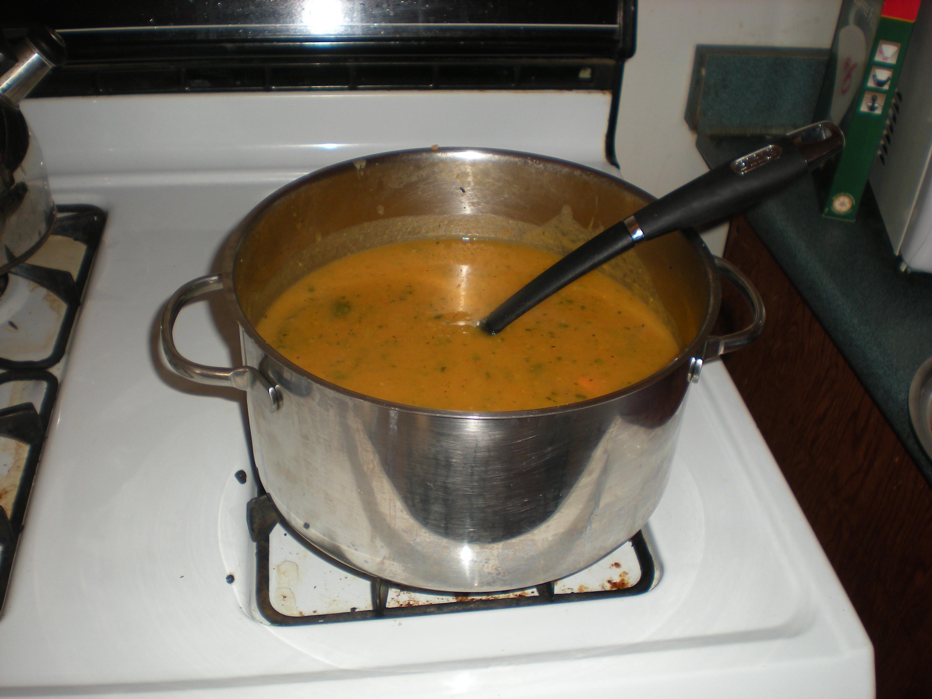 Soupe maison carotte patate douce tomates oignons celeri onceuponamiche - Soupe a oignon maison ...
